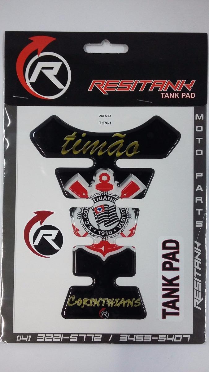 Protetor Tanque Pad Corinthians Timao Preto branco - Adesivo - R  24 ... fb8dba4e5de78