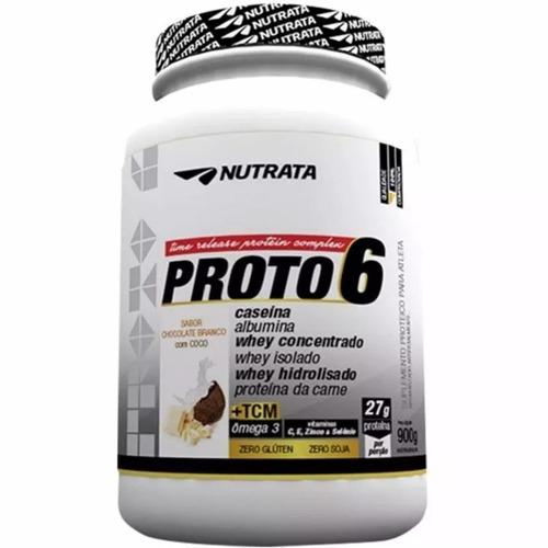 proto 6 nutrata 900g zero glúten sabor chocolate branco