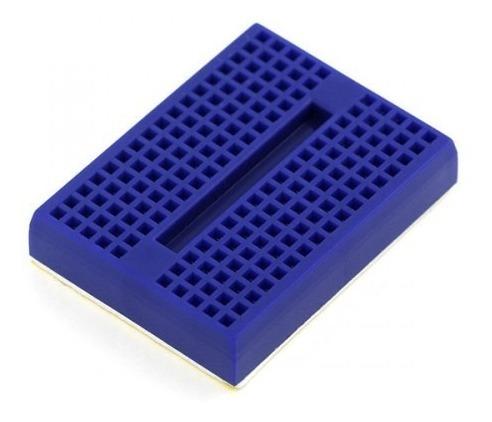 protoboard 170 pontos breadboard 170 furos - azul