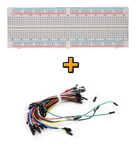 protoboard 830 pontos + 30pcs jumper mxm