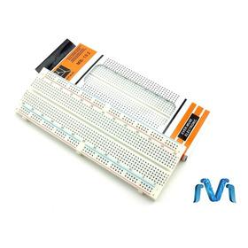 Protoboard 830 Puntos Blanca Proto Breadboard Mv