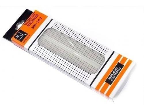 protoboard arduino breadboard 830 pontos furos pinos mb102