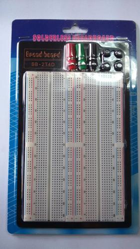 protoboard de 2 regletas, electronica, arduino, pic, atmega