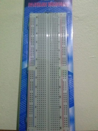 protoboard mediano 16.5x5.4x0.85 centimetros