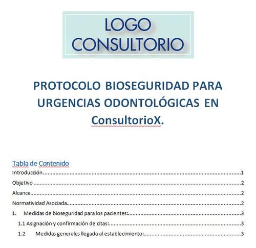 protocolo bioseguridad urgencias odontológicas