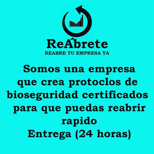 protocolos de bioseguridad certificados