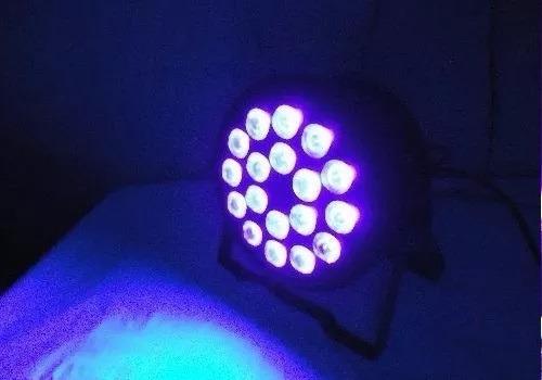 proton tacho luz negra uv 18 led dmx audioritmico fluo 2018