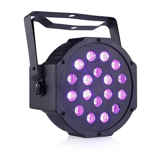 proton tacho luz negra uv 18 led dmx audioritmico fluo local