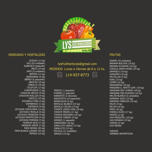 proveedor mayorista de frutas y verduras - reparto