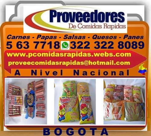 proveedores comidas rapidas, panes, salsas, carnes, papas,