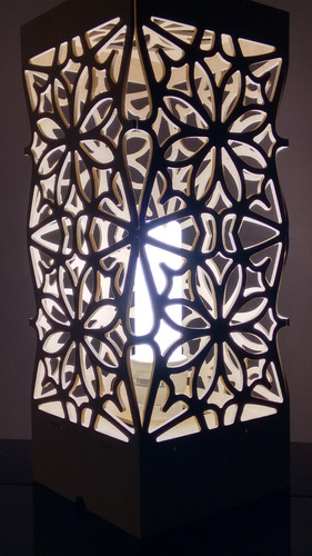 provençal luminária floral  arabesco mdf 3d para montar
