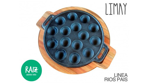provoletera 15 cavidades con base - limay - raiz madera pura