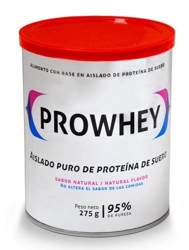 prowhey lata x 275 gr aislado puro de proteina de suero