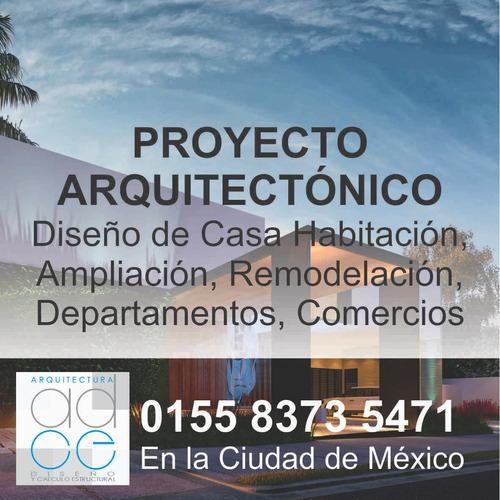 proyecto arquitecto  diseño calculo estructural planos