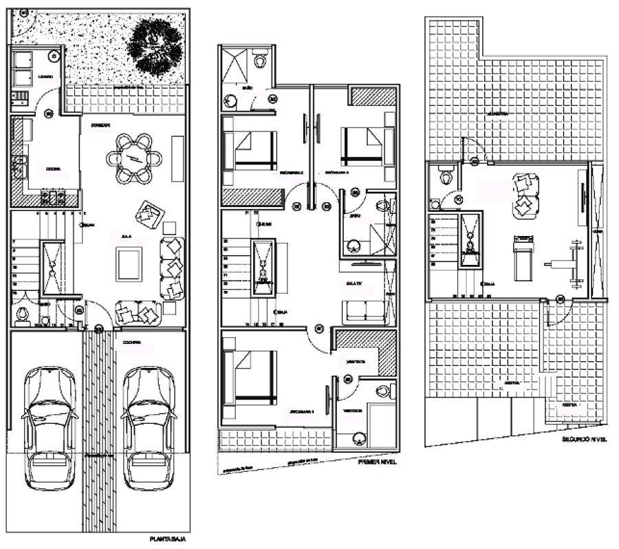 Proyecto ejecutivo casa habitacion planos arquitectonicos for Planos de casas 6x20