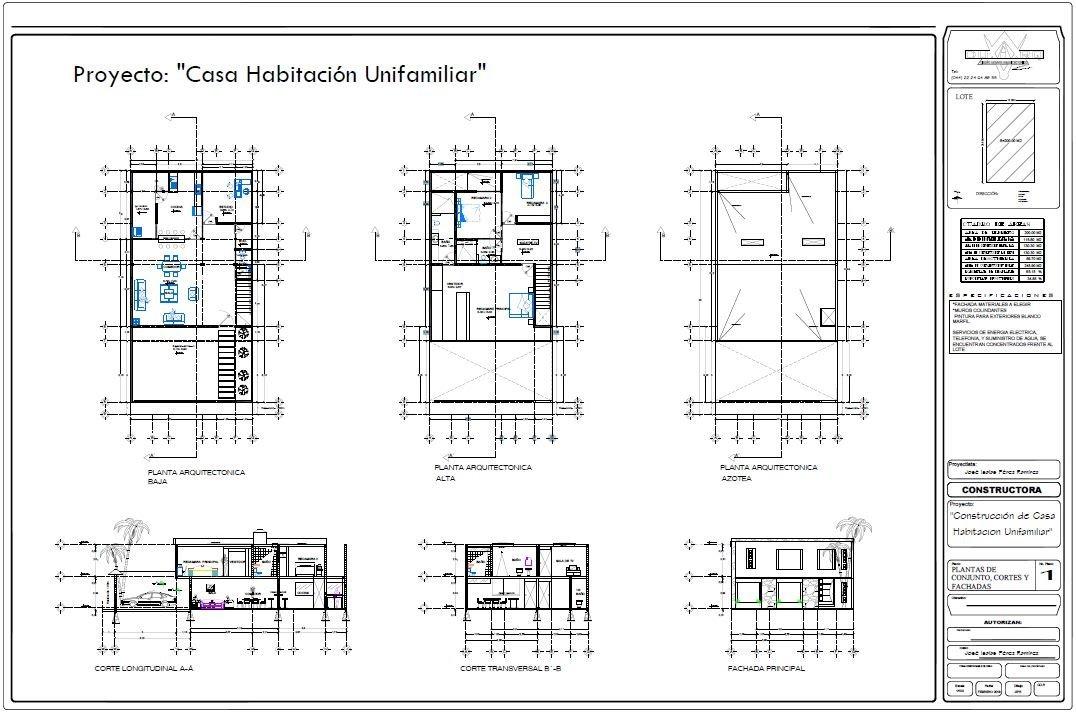 Proyecto ejecutivo casa planos arquitectonicos estructural for Planos arquitectonicos de casa habitacion