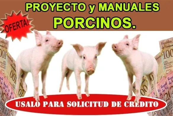 Proyecto+manuales De Ganado Porcino Cerdo Sirve Para Credito ...