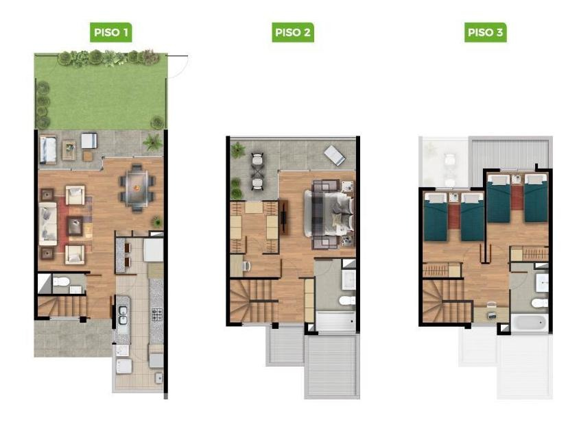 proyecto townhouse los robles