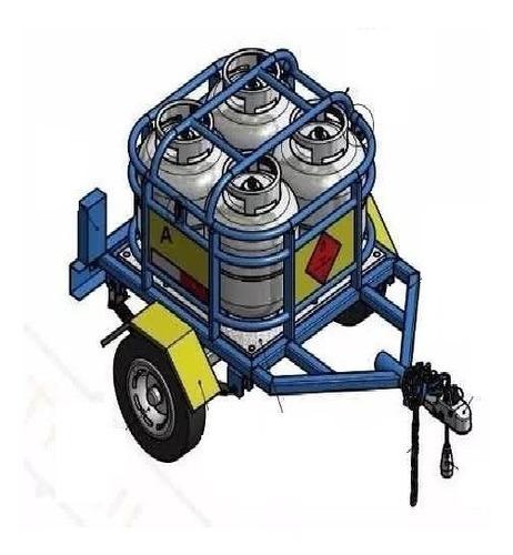 proyecto trailers carretilla motocicl transporte bombona gas