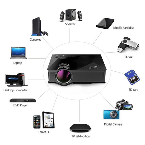 proyector 1200 lumens unic uc 46 wifi + envio gratis