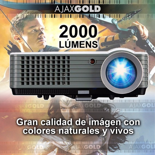 proyector 2000 lumenes full hd hdmi notebook led vga usb