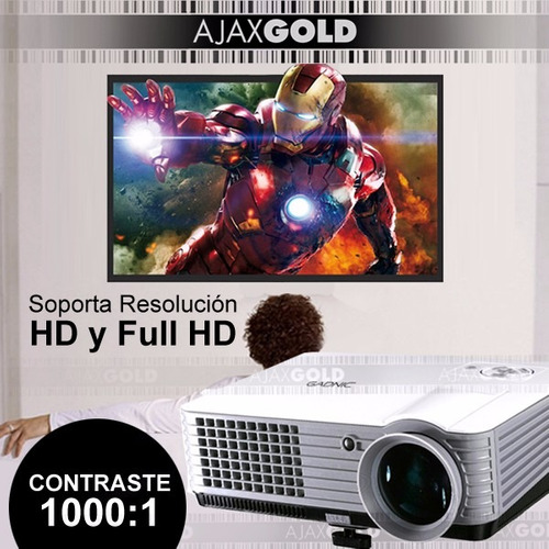proyector 2000 lumens full hd hdmi notebook led vga usb