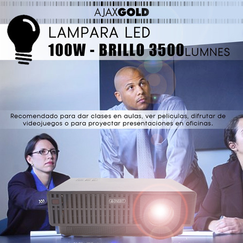 proyector 3500 lumens hdmi 1080p usb notebook led ps4 ansi