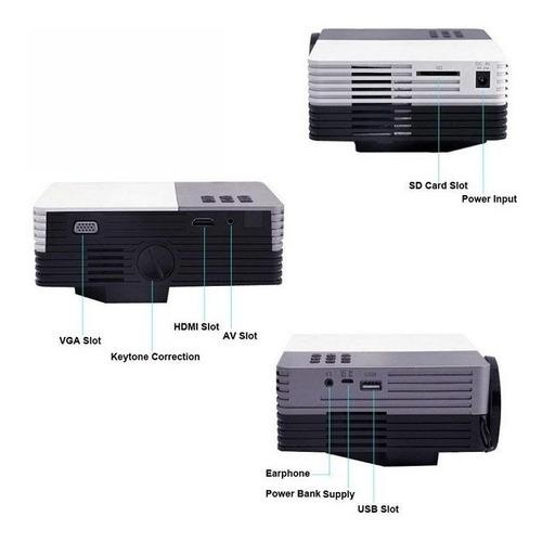 proyector 80 lúmenes 480x320 gm50 led hdmi, vga, usb, av, sd