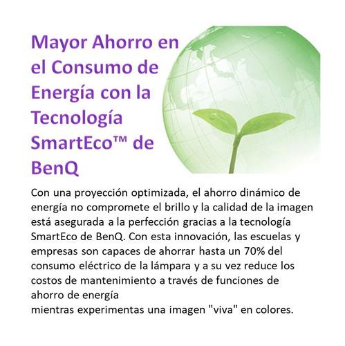proyector benq ms527 3300 lúmenes svga tiro normal dlp smart