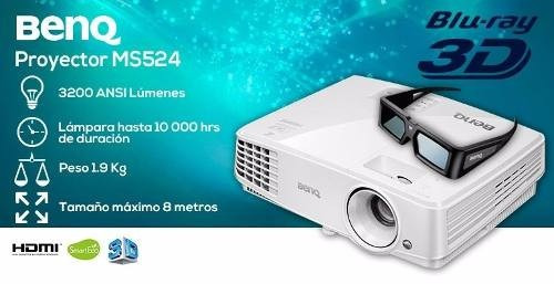 proyector benq ms527 / 3300 lumens 3d hdmi audio profesional