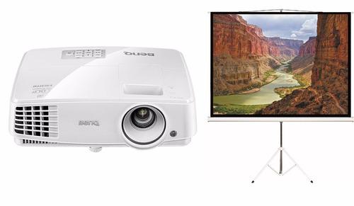 proyector benq ms527 + pantalla 100 tripode + cable hdmi 20m