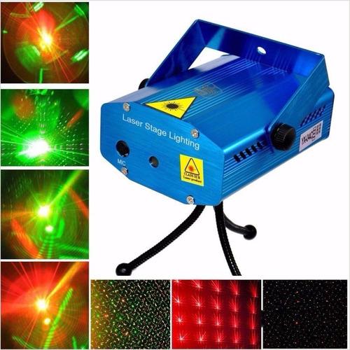 proyector cañon led rgb dj audioritmico + laser lluvia