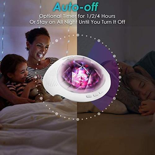 proyector de aurora 7 modos de luz con bluetooth