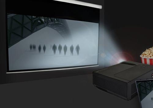 proyector de cine en casa con pantalla lcd led ultra brillan
