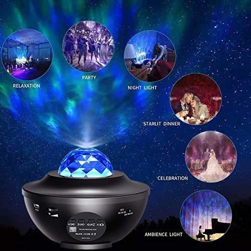 proyector de estrellas luz nocturna, luz oceanica de lujo le