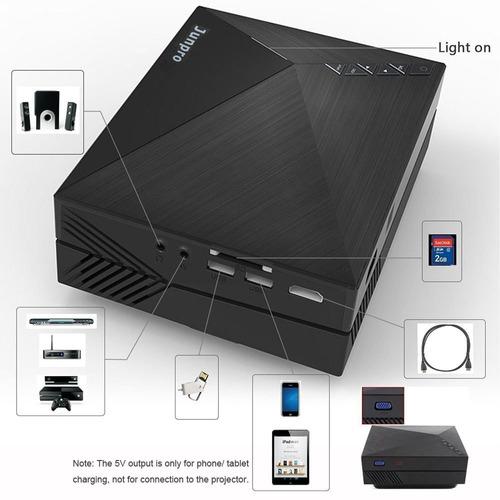 proyector de video portátil junpro mini - lcd multimedia led