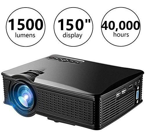 proyector de video weiliante hd mini, proyector de cine en c