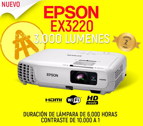 proyector epson ex3220 vs240 video beam wifi hdmi todomodelo
