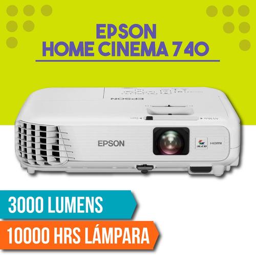proyector epson home cinema hc740 hd 3000 lumens 3lcd