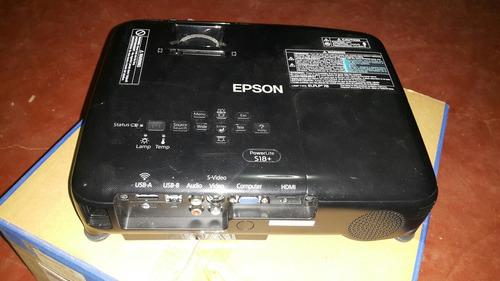 proyector epson powerlite s18+ / lumens 3000, svga 800x600