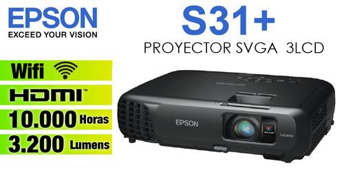 proyector epson s31+, 3.200 lumenes, hdmi, nuevo, de oferta.