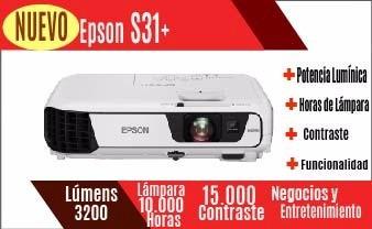 proyector epson s31+ wifi 3200 lumens ex3220 s18 x24 ex3240