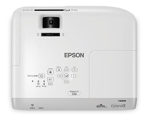 proyector epson s39 powerlite 3300 lumens svga hdmi vga usb