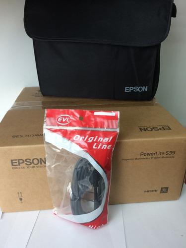 proyector epson s39 svga 3300lum cable hdmi/maletin/obsequio