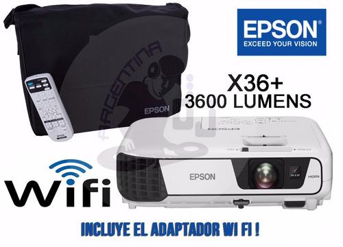 proyector epson x36 3600 lumens , wi fi , hdmi , el mejor !