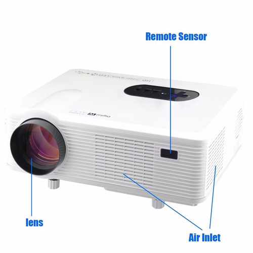 Cl720 3000 Lumens Hd Home Theater Multimedia Lcd Projector: Proyector Excelvan Cl720 3000 Lumens Hd Home Theater