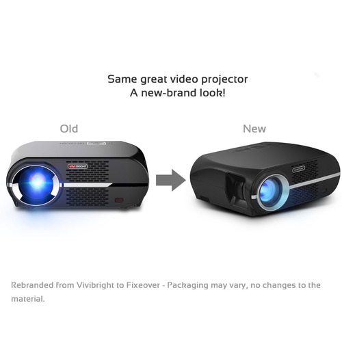 proyector fixeover gp100 video projector, lcd 1080p full-hd