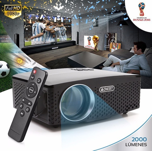 proyector hd led 2000 lumens mini portatil hdmi usb vga 2018