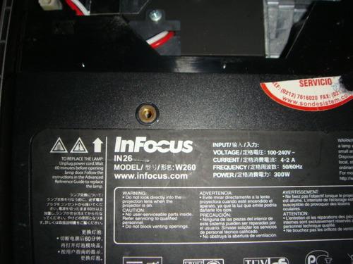 proyector infocus in26 - video beam