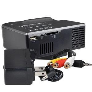 proyector led 21 a 60 slot de tarjeta, rca, usb